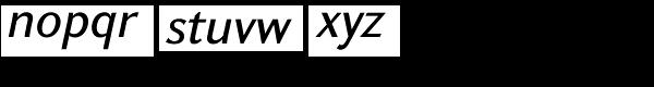 GHEA Koryun Medium Italic Font LOWERCASE