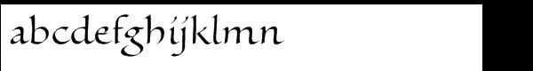 Gianpoggio Regular Font LOWERCASE