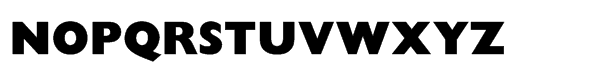 Gill Sans® Std Display Extra Bold Font UPPERCASE
