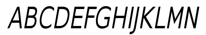 GilliusADF-CondItalic Font UPPERCASE