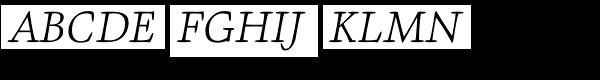 Givens Antiqua Pro Light Italic Font UPPERCASE