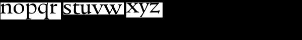 Goudita TS-Regular Font LOWERCASE
