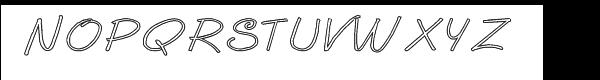 GP Casual Script Outline Font UPPERCASE