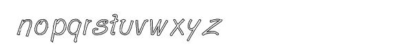 GP Casual Script Outline Font LOWERCASE