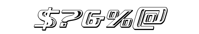 Grease Gun Chrome Italic Font OTHER CHARS