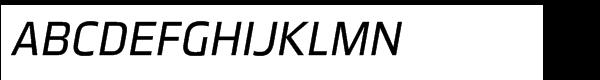 Great Escape Std Book Italic Font UPPERCASE