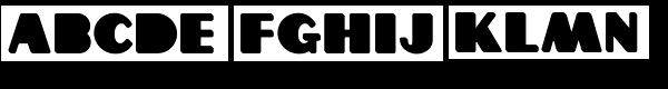 Grippo Black Font LOWERCASE