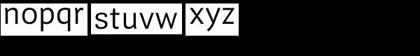 Guanabara Sans Light Font LOWERCASE