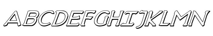 Hadriatic Shadow Italic Font UPPERCASE