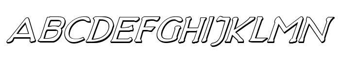 Hadriatic Shadow Italic Font LOWERCASE