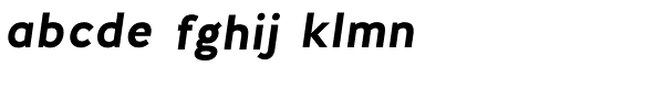Halis Grotesque Bold Italic Font LOWERCASE
