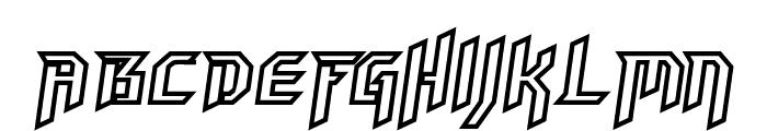 HammerheadOutline Italic Font UPPERCASE