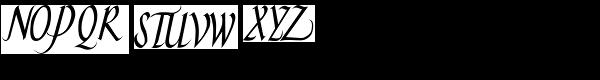 Hand Skript One Font UPPERCASE
