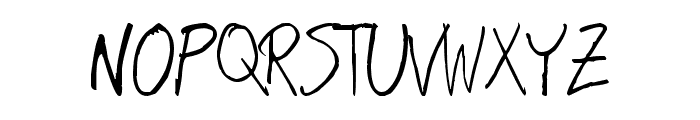 Hand Writing Font UPPERCASE