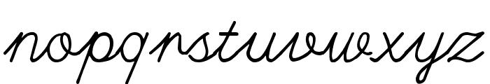 Hand writing Mutlu Font LOWERCASE