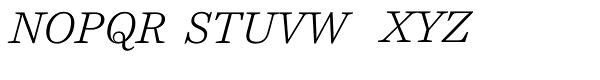 Harriet Text Light Italic Font UPPERCASE