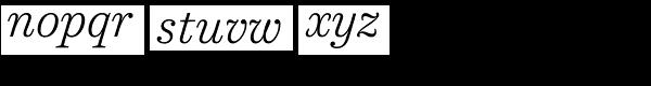 Harriet Text Light Italic Font LOWERCASE