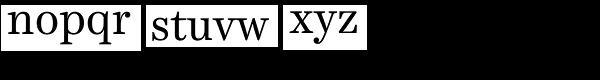 Harriet Text Regular Font LOWERCASE