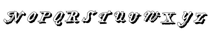 HartzVier-Shadow Font UPPERCASE
