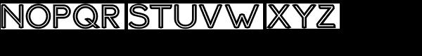 Haymer Inline Font UPPERCASE
