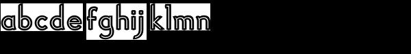 Haymer Inline Font LOWERCASE