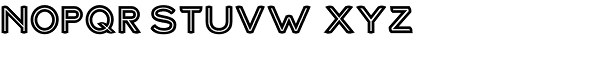 Haymer Small Capitals Inline Font LOWERCASE