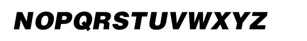 Helvetica™ Black Oblique Font UPPERCASE