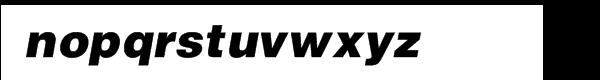 Helvetica™ Black Oblique Font LOWERCASE