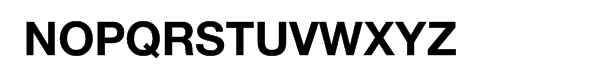 Helvetica Neue Bold for IBM Font UPPERCASE