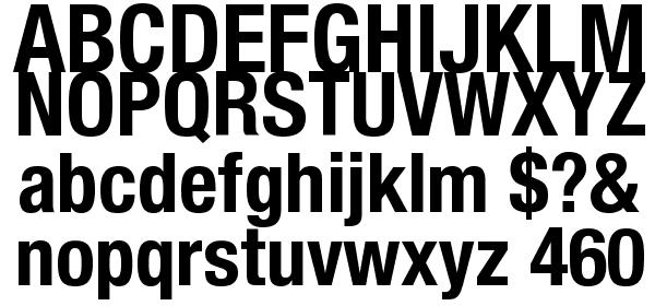 Helvetica Neue Condensed Bold Font