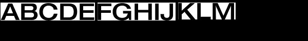 Helvetica Neue Exp Medium Font UPPERCASE