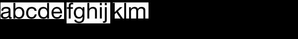Helvetica Neue Roman Font LOWERCASE