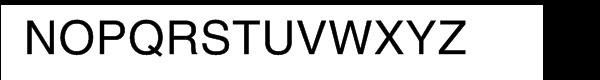 Helvetica™ Textbook Roman Font UPPERCASE