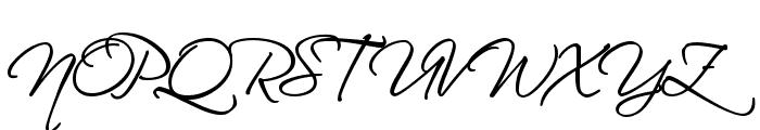 HL Scriptina Medium Font UPPERCASE