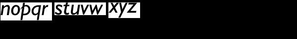 Humanist 521 Italic Font LOWERCASE