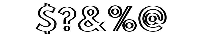 Hussar Outliner Font OTHER CHARS