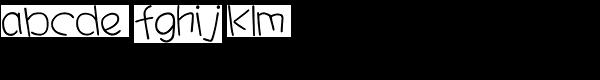 HYYa Ya J Font LOWERCASE