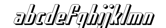 Hydro Squad 3D Font LOWERCASE