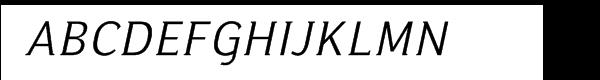 Ideologica Light Italic Font UPPERCASE