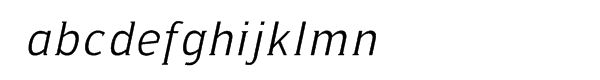 Ideologica Light Italic Font LOWERCASE