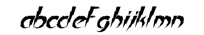 In A Flash Italic Font LOWERCASE