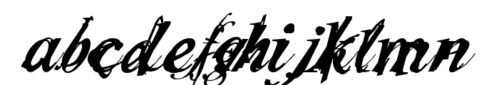 Infiltrace  Italic Font LOWERCASE