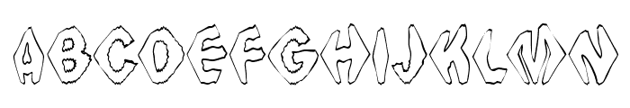 Ingothical Weird Font UPPERCASE