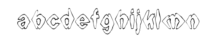 Ingothical Weird Font LOWERCASE