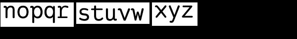 Ingrid Mono Semi Bold Font LOWERCASE