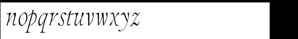 Integrity JY Pro Italic Font LOWERCASE