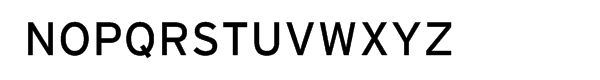 Interstate Regular Font UPPERCASE