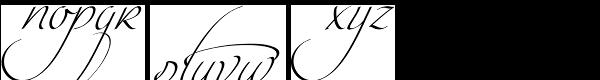 Intima Script One Font LOWERCASE