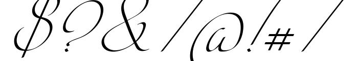 Intima Script Three Font OTHER CHARS