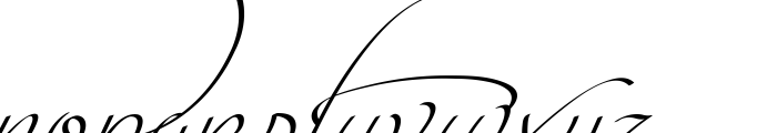 Intima Script Three Font LOWERCASE